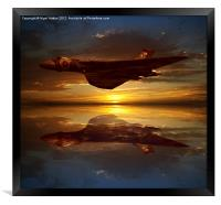 The Brilliant Vulcan XH558, Framed Print