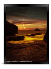 Looking out to Gull Rock, Framed Print