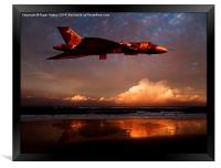 Vulcan at Sunset, Framed Print