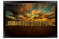 Welcome to Cornwall, Framed Print