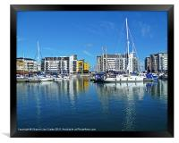 Boats and Yachts in harbour, Framed Print