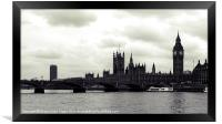Parliament from the Thames, Framed Print