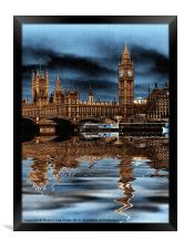 A rainy day in London, Framed Print