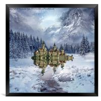 Upon the Glacier, Framed Print