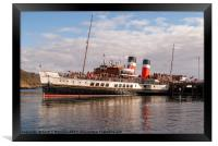 Waverley at berth Gairloch, Framed Print