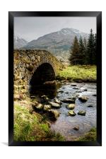 Kinglas Water Argyll , Framed Print