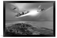 Sea Harriers in action, Framed Print