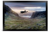 Low flying Tornado jet, Framed Print