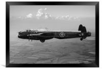 Dambusters Lancaster AJ-G carrying Upkeep black an, Framed Print