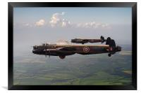 Lancasters AJ-G and AJ-N carrying Upkeeps, Framed Print