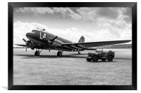 Douglas C-47A Skytrain ready for D-Day, Framed Print