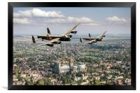 Two Lancasters over Lincoln Cathedral, Framed Print