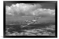 Hispano Buchon G-BWUE B&W version, Framed Print