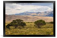 The Great Sand Dunes National Park, Colorado, USA, Framed Print