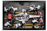 Jenson Button -Pitstop, Framed Print