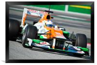 Paul di Resta Spain 2012, Framed Print