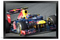 Mark Webber 2012 Redbull - Spain, Framed Print