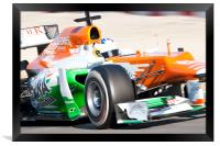 Paul di Resta - Spain - 2012 Force India, Framed Print