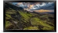Dawn over the Quiraing, Framed Print