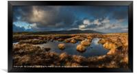 View to Tor y Foel, and Talybont Reservoir Brecon , Framed Print