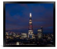 Night view of the Shard, City of London, Framed Print