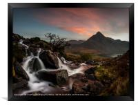 Tryfan from Afon Lloer, Snowdonia National Park, Framed Print