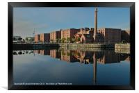 reflections on the canning dock, Framed Print