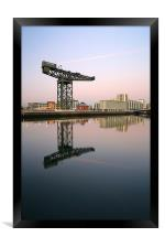 Glasgow River Clyde Reflections, Framed Print
