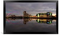 Glasgow Clyde Reflections, Framed Print