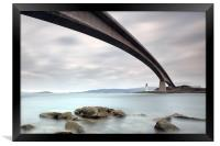 Road Bridge Rocks, Framed Print