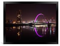Glasgow Clyde Arc at Night, Framed Print