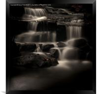 Lumsdale Valley Waterfalls, Framed Print