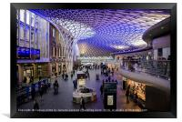 Kings Cross ticket hall , Framed Print