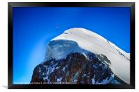 Paragliding at the Mtterhorn, Framed Print