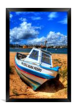 Portugees fishing boat, Framed Print