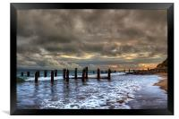Old Groynes at Crow Point, Framed Print