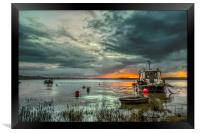 Houseboat on the River Taw, Framed Print