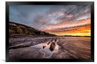 Winter sunrise, Saunton Sands, Framed Print