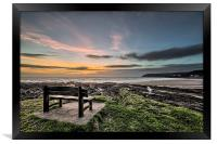 Croyde Bay Sunset, Framed Print