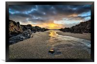 Barricane Beach, Woolacombe, North Devon., Framed Print