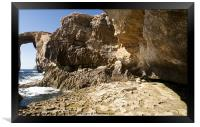 The Azure Window and Surroundings, Framed Print