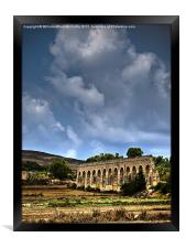 19th Century Aquaduct, Framed Print