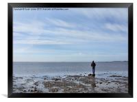 Looking out at low tide, Framed Print