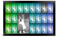 Tennis Serve Mosaic Abstract, Framed Print