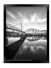 Canvas print Glasgow Armadillo and Bells Bridge, Framed Print