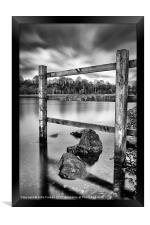 Fence in the loch, Framed Print