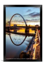 Clyde Arc Squinty Bridge, Framed Print