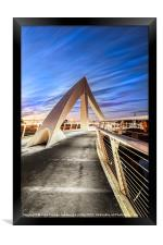 The squiggly Bridge, Framed Print