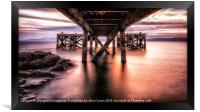 Under the Jetty, Framed Print