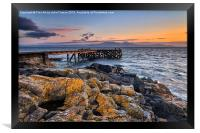 Portencross and Arran Jetty, Framed Print